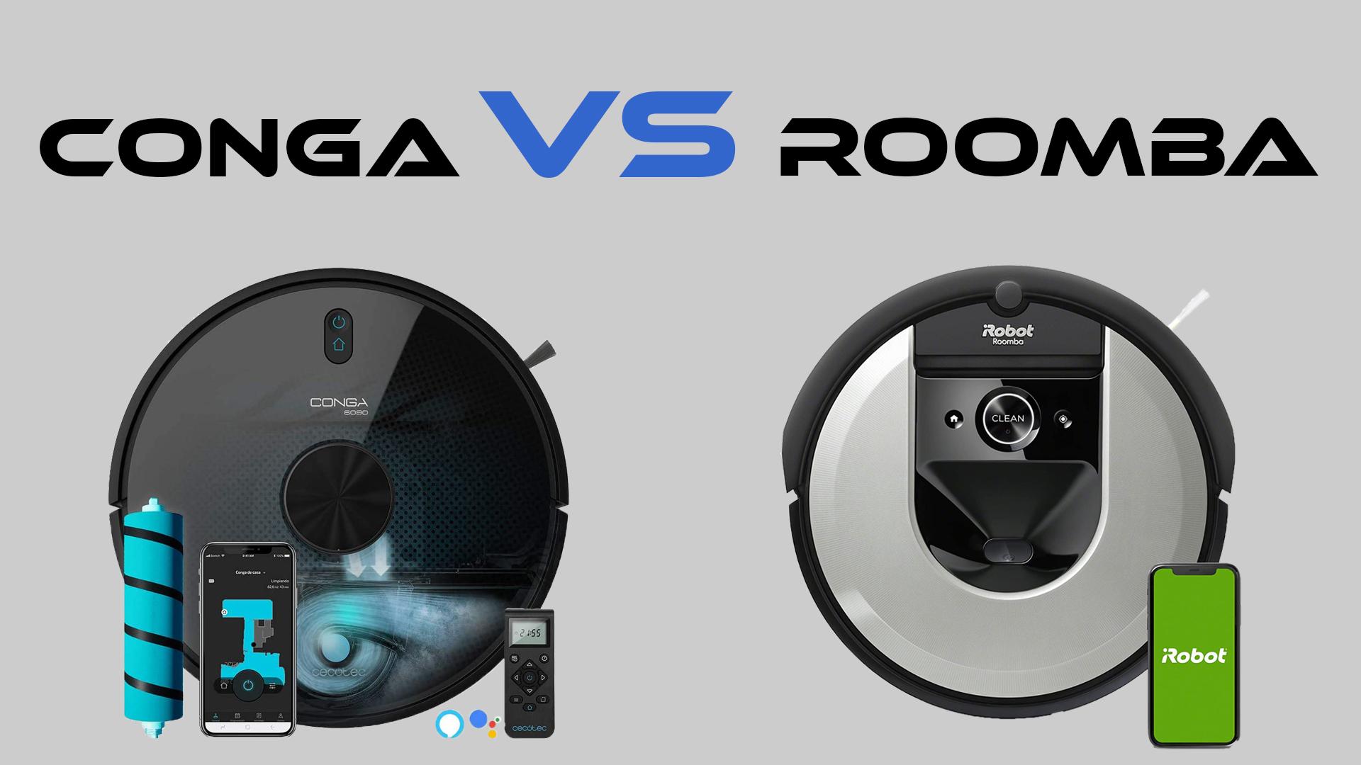 Imagen principal del artículo conga vs roomba
